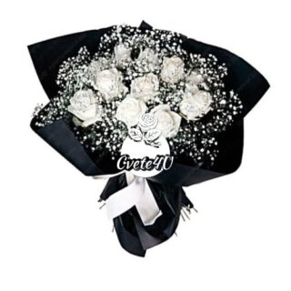 Бели рози & гипсофила