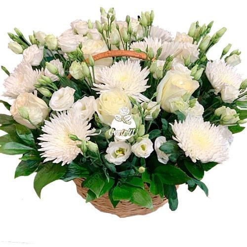 Бели рози & Хризантеми